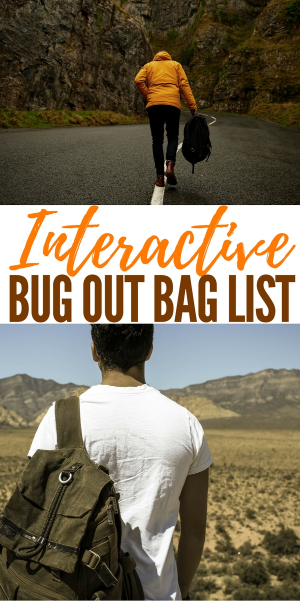 Interactive Bug Out Bag List - While you can purchase a premade bug out bag, creating a custom kit is the preferred option since it allows you to choose exactly what you want to pack in your bag.