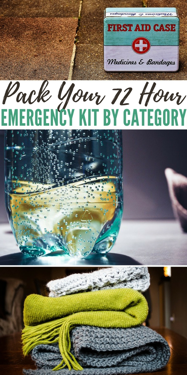 Pack Your 72 Hour Emergency Kit by Category - shtf