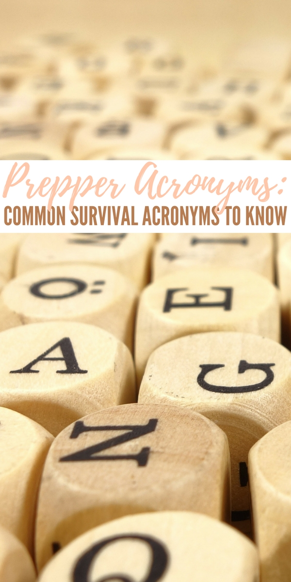 Prepper Acronyms: Common Survival Acronyms to Know SHTF, BOB, TEOTWAWKI... Whether you embrace the shorthand or not, the fact remains that there is a lot of it out there. It has almost evolved into an exclusive language where you can hold a whole conversation without using layman's terms.