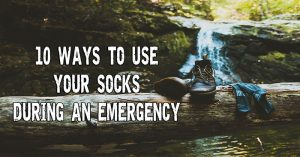 Ten Ways To Use Your Socks During An Emergency - lHuman ingenuity is the main tool that helped mankind survive through harsh times. No matter how much people had to endure, they always manage to find a way out of a gruesome situation. As preppers, we often have to think outside the box to solve our problems.