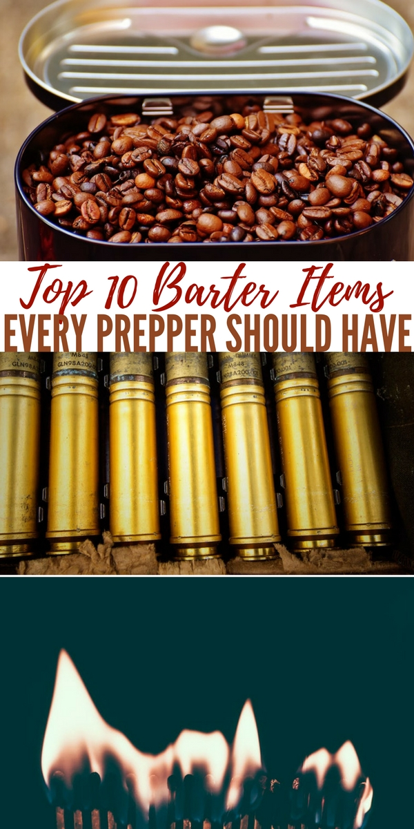 Top 10 Barter Items Every Prepper Should Have — Along with those items that you store for your own personal use there should always be a little bit stowed away for the purposes of bartering. You know the average American doesn't have much cash stored in their home.