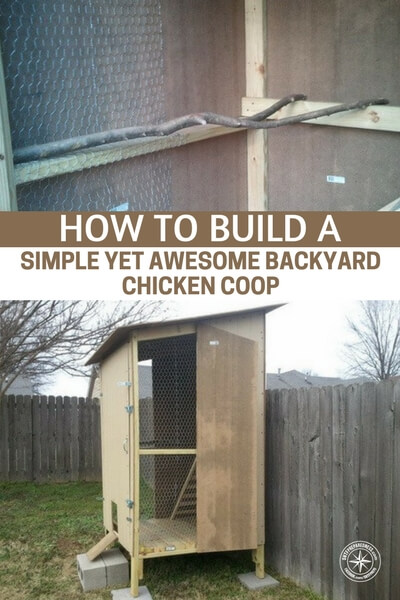 How To Build a Simple Yet Awesome Backyard Chicken Coop - Chickens need a coop to sleep at night and this one will keep your hens safe and warm with the traditional look of what, I personally love.