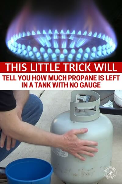 This Little Trick Will Tell You How Much Propane Is Left In A Tank With No Gauge - I found a little trick which shows you how to check the level of a propane tank without a gauge installed. Most propane tanks you pick up from a gas station have no gauges so check out this little tip and never run out of propane while cooking again!
