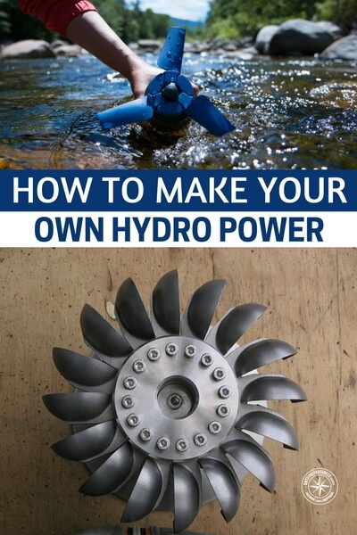 How To Make Your Own Hydro Power - Obviously this isn't a real secure way of generating enough power to run a whole house but if certainly could help and is a very efficient method of harnessing power.