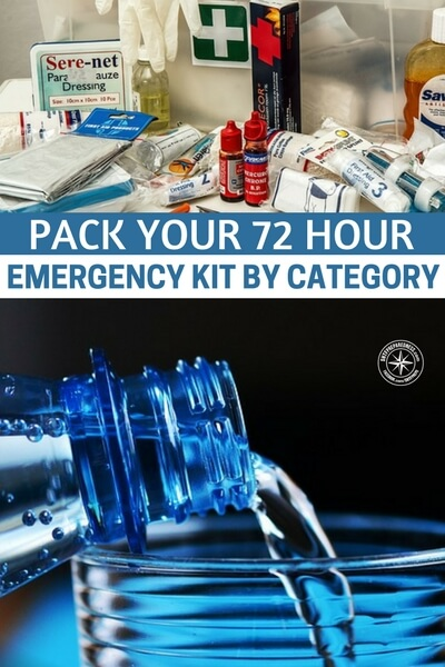Pack Your 72 Hour Emergency Kit by Category - This is a brief article but it really helps with the categorization of each part of your pack. Having these categories allows you to maximize the space in the bag as well as divide it up as you see fit.I would encourage attempting to include a space for each category featured.