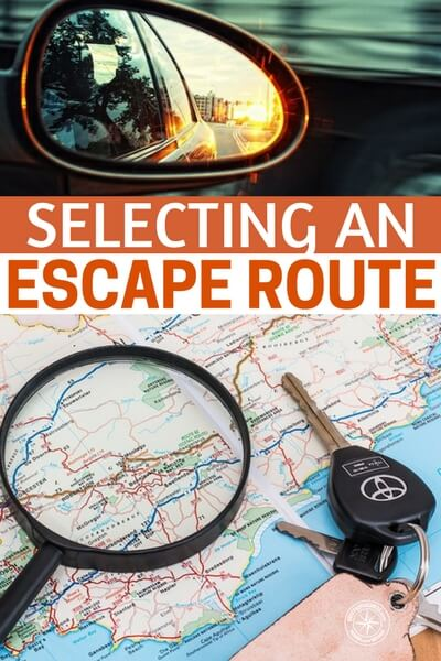 Selecting an Escape Route - I was pleased to find the author was only satisfied with four alternate routes for escape. This is the basis of selecting an escape route but the article offers much more. You will learn about map study and predicting where the disasters could take place. These are skills that are just as important as the escape itself. In preparedness and survival its all about the details.