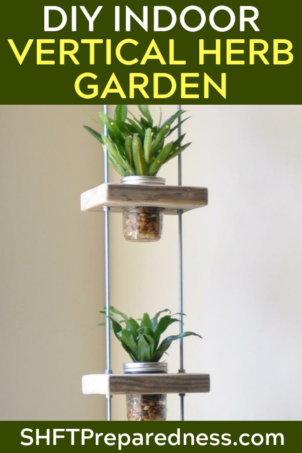 DIY Indoor Vertical Herb Garden - Its so important that we start growing our own food. It comes from the necessity to combat this factory farming epidemic as well as a push towards self reliance.