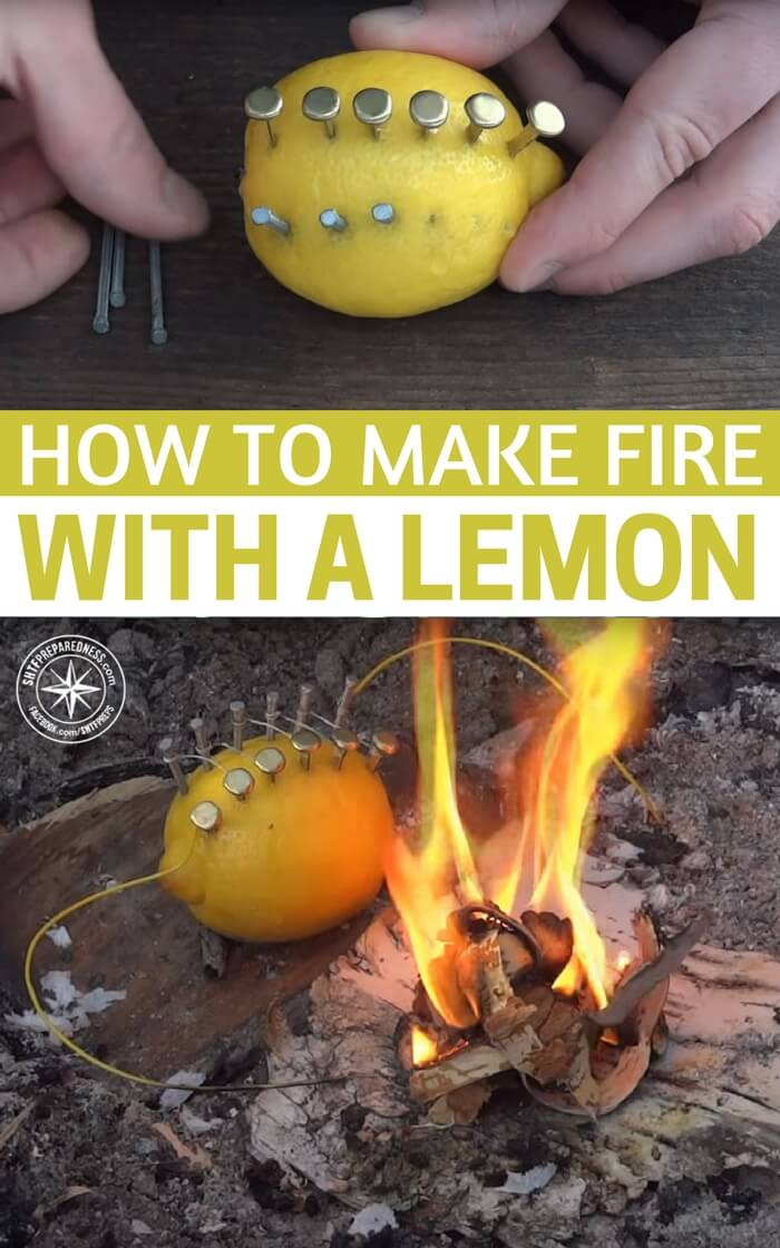 How to Make Fire With a Lemon - Fact or Fiction? - When SHTF, sometimes we need to get creative. While you may not have all of these items on hand, I just wanted to show you what you can do with items you may be able to scavenge and a little ingenuity (MacGyver anyone?).