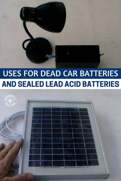 Uses For Dead Car Batteries And Sealed Lead Acid Batteries — This is great information to remember and maybe even trying out before an emergency happens. People toss away these batteries all the time. Maybe it's time to start stockpiling these bad boys for that just in case moment and take advantage of the stupidity of others.