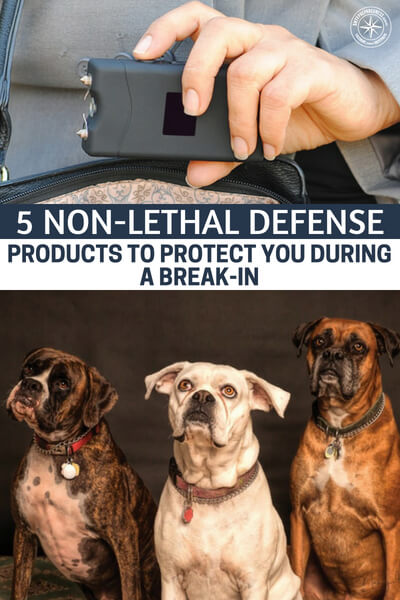 5 Non-Lethal Defense Products to Protect You During a Break-In - There is a cost to killing. When you take a life it gets smeared onto your soul. You cannot escape the your actions and the consequences. In the same vein the law can be levied against you as well.