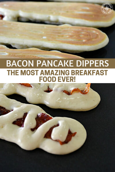 Bacon Pancake Dippers: the Most Amazing Breakfast Food EVER! - I just love breakfast, it's my favorite meal of the day. If you are a breakfast foodie, then I think I may have found the ultimate breakfast food for you, Bacon Pancake Dippers! Why have your pancakes with bacon on the side when you can just combine them into one fantastic treat? :)