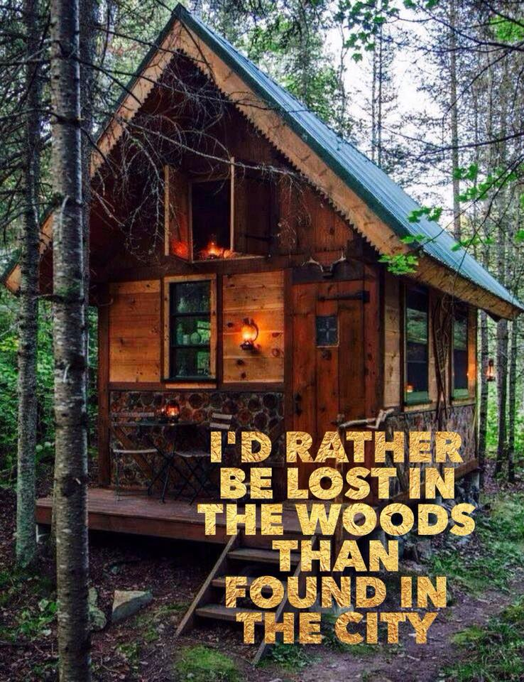 I'd rather be lost in the wood than found in the city