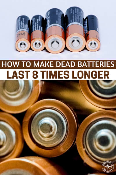 "How To Make Dead Batteries Last 8 Times Longer - Batteries are reusable on new and most ""used"" batteries and will be available in AA, AAA, C, & D variations. I am going to be getting a few of these and keeping them in my bugout bag and car!"