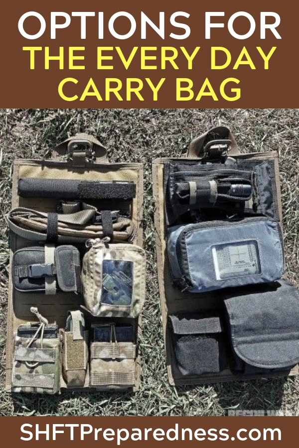 The Every Day Carry Bag aka EDC - Your EDC bag should carry all the things that you need when shtf. Preparing your bag is important.