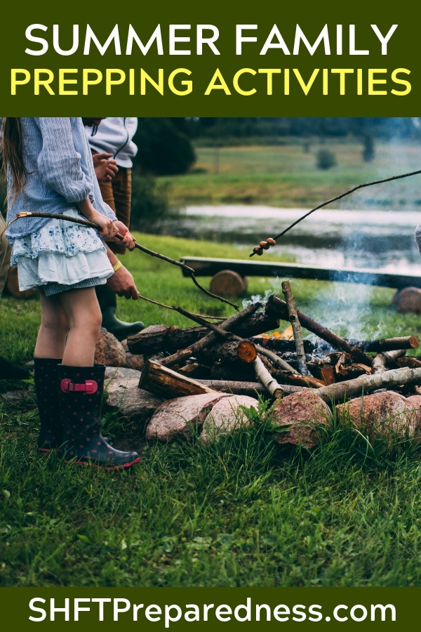 Summer Family Prepping Activities - Summer family prepping is also a good time to get ready for Autumn. Making sure you have things set up for activities that happen in Autumn such as harvesting and preserving the bounty from the garden. There is so much more that you can turn into a game, and still teach valuable lessons for taking care of yourself.