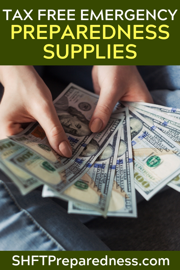 Tax Free Emergency Preparedness Supplies – Here's how! — Its always surprising to find out how few people are taking advantage of what I call the preppers tax cut. I don't know the full scope of how it hits nationally but I know many states in the Union participate in tax free weekends for emergency preparedness.