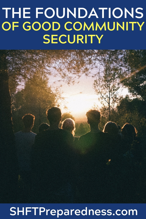The Foundations of Good Community Security - This article takes that lesson and explains how it can be used to bolster security on a community level. Through things like developing relationships with the local police. You will need buy in from the people around you but there is some of that in this article as well.