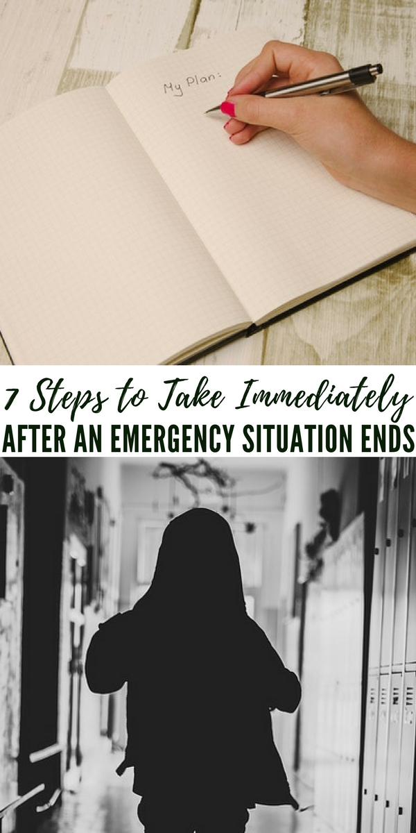 7 Steps to Take Immediately After an Emergency Situation Ends - The author does a great job at breaking this process down into seven easy to digest options and steps that you can take after an emergency. This is a great review for improving your disaster response. This is SOP when it comes to emergency response in a corporate setting.