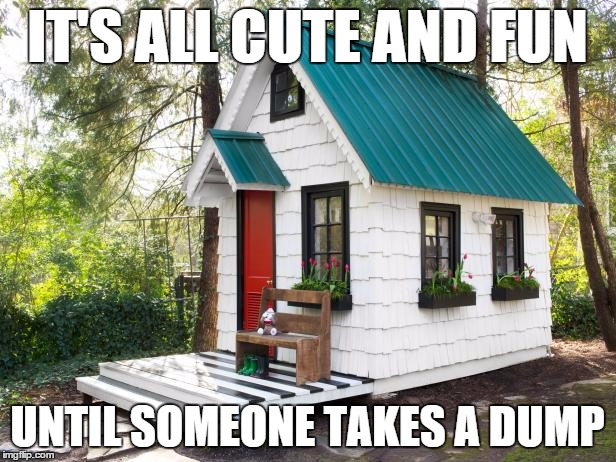 It's all cute and fun... until someone takes a dump