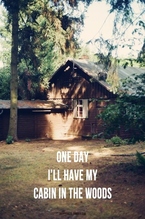 One day I'll have my cabin in the woods