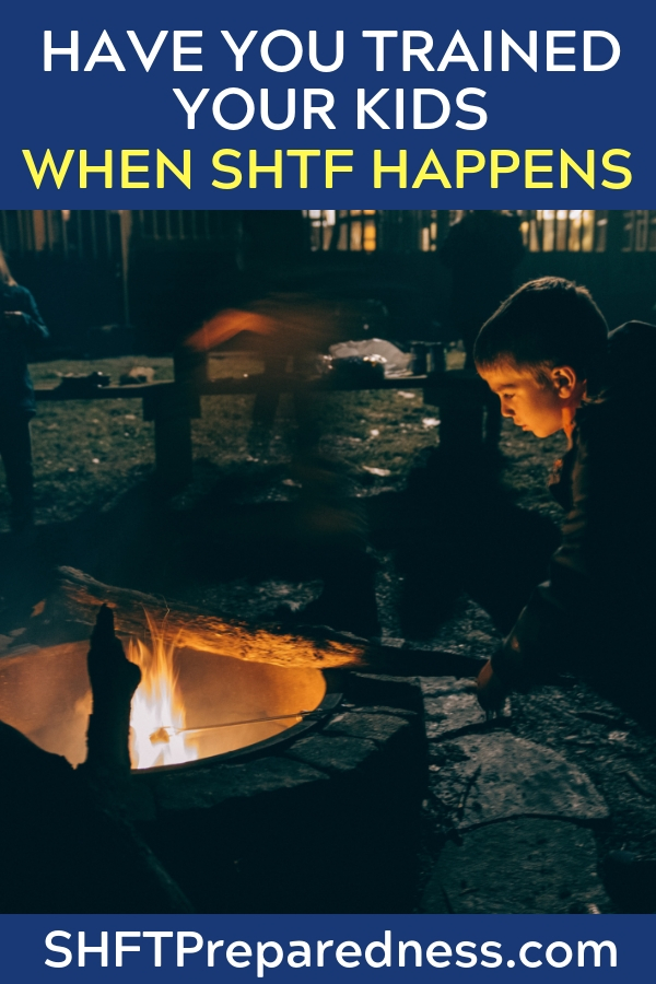 Have You Trained Your Kids To Work? What Will They Do When A SHTF Happens? - Kids will need to be self sufficient in the face of disaster and you have to teach them how to be. The best way is to give them responsibility today.