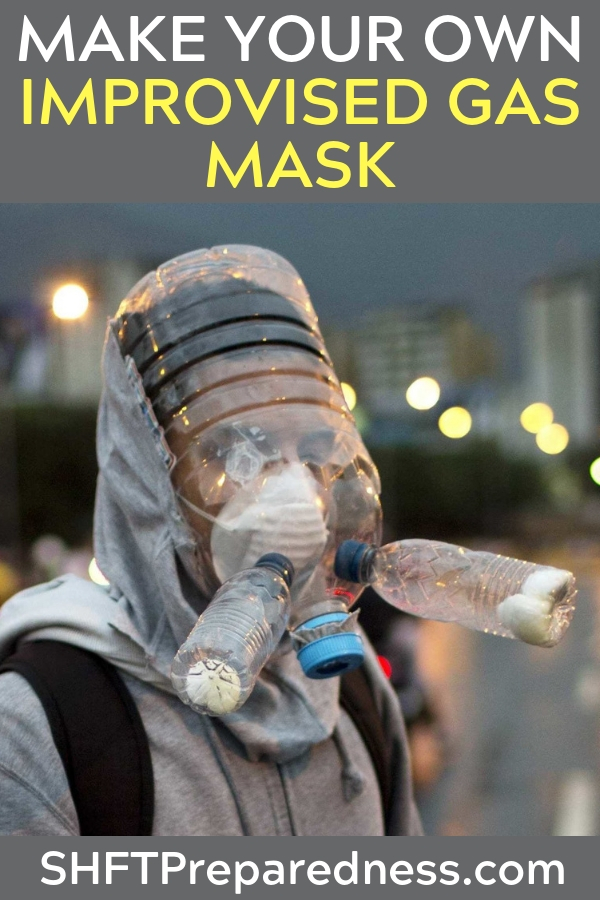 How to Make an Improvised Gas Mask - The author makes it very simple and offers a solution when one is not in sight. What would you be able to pull off with a mask like this one?