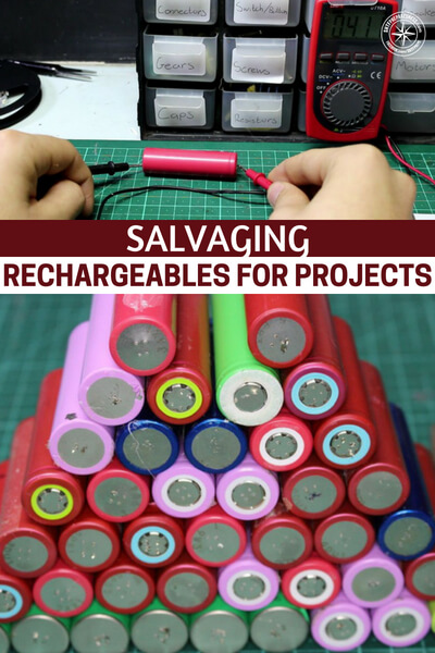 Salvaging Rechargeables for Projects - The process is actually a two parter. Its about harvesting rechargeable batteries from various electronics. This is a unique and highly effective skill of its own, for the prepper. The next skill set is to take these salvaged batteries and recharge them for future use. Knowing how to and having the tools to make this happen is very impressive and could serve many purposes in the collapsed world.