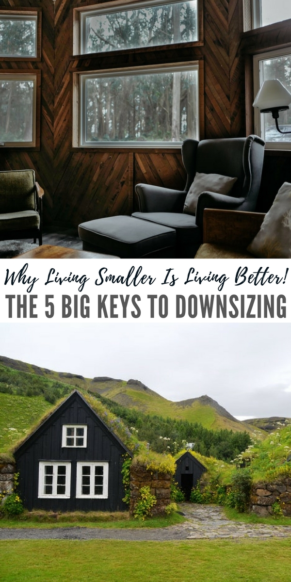 Why Living Smaller Is Living Better! The 5 Big Keys To Downsizing - This article is a great representation of how you can begin your own journey towards downsizing. I liked the fact that the author said that having less is not always the same as downsizing. We often get this idea that we must live in a box with one chair and hat to live a minimalistic lifestyle.