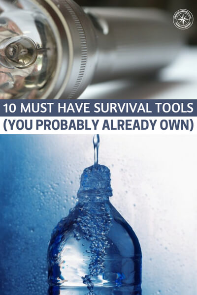 10 Must Have Survival Tools (You Probably Already Own) - I personally have all of these items and some of them I didn't even know could be used as survival items. That is great news for me as a survivalist.