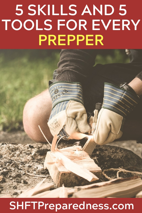 5 Skills And 5 Tools For Every Prepper - When it comes to skills the great battle is time. How much time can we commit to getting good at firecraft, shelter building, self defense. When it comes to tools the great villain is variety. Where do we find great tools and how of we know which ones are the best or the best for the money we have.