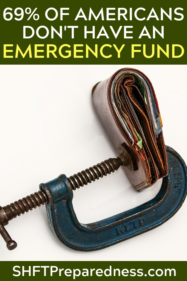 69 Percent Of Americans Do Not Have An Adequate Emergency Fund - The emergency fun is so important. I cannot emphasize the importance of cash on hand as well. You have be able to react when the power is out. When the ATM's are down you must have an answer if you need resources.