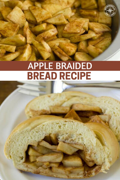 Apple Braided Bread Recipe - I actually think you may prefer this to apple pie. The bread is soft, moist and tastes amazing. The apples are soft, warm and the two together creates a taste explosion in your mouth.