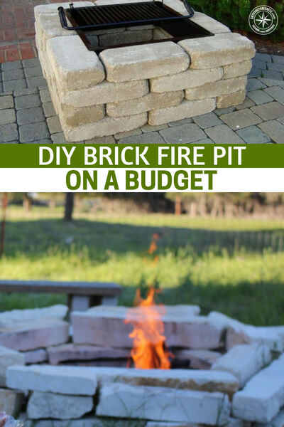 DIY Brick Fire Pit on a Budget - This project is easy to make and because its made of brick it is asturdy pit. You will have no worries about looters stealing the metal one.