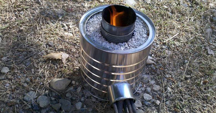 How to make your own rocket stoves for Tin can rocket stove