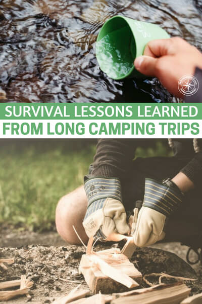Survival Lessons Learned from Long Camping Trips - The average person knows the rule of thumb regarding water: a gallon of water per day, per person. What they don't tell you is that truly is the barest minimum required. If you want to take a shower, one gallon per day isn't enough - not by a long shot.