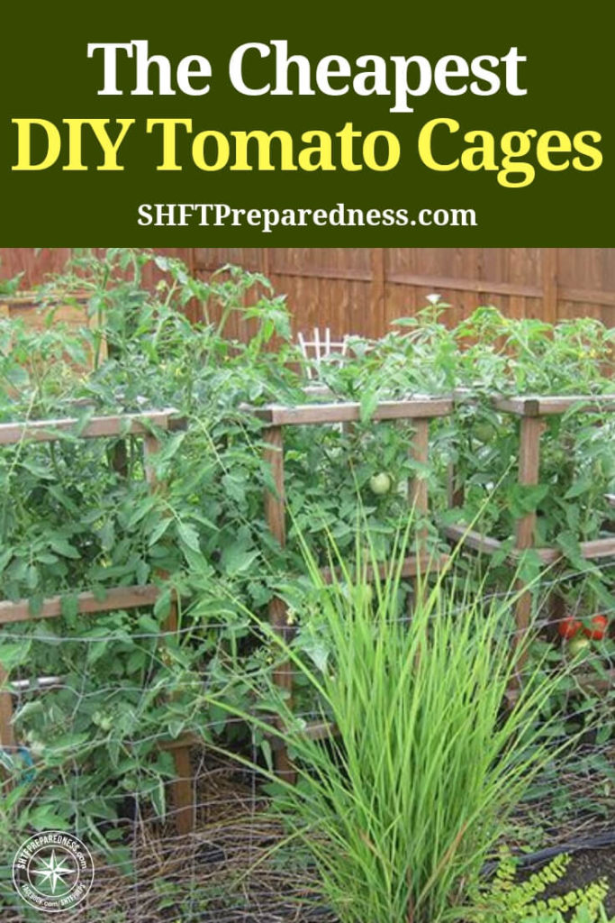 How To Build The Ultimate Tomato Cage For Under $2 - Nobody ever said growing your own food was going to be easy but that doesn't mean it should be expensive and this DIY tomato and pepper cage proves that.