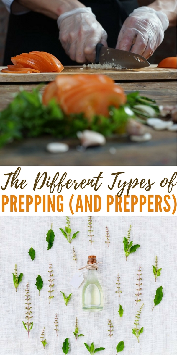The Different Types of Prepping (And Preppers) - It wont take you long to find out which type of prepper you are. You may even find that you can fall into a couple categories as well.