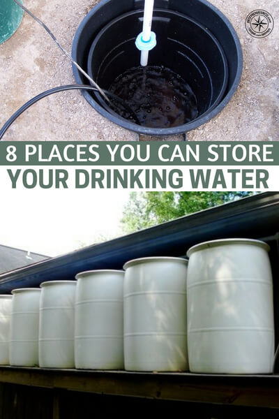 8 Places You Can Store Your Drinking Water — Of all the survival supplies you can stockpile, water is arguably the most important. Without it, you'd only last a few days before dying of thirst. Unfortunately, water takes up a lot of space.