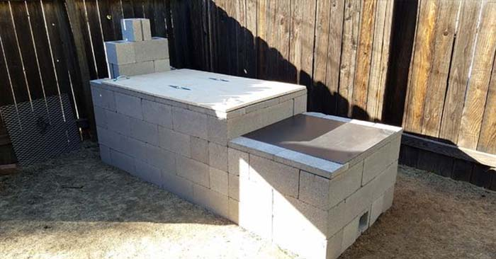 Cinder Block Offset Smoker - You will find step by step directions on how to build and use this offset smoker. having access to something like this could be a make or break in survival situation.