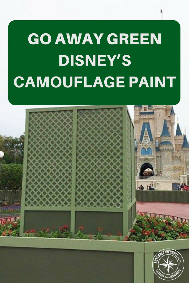 "Go Away Green – Disney's Camouflage Paint - Obviously, the military and Disney have taken a cue or two from nature when it comes to camouflage. The theme we explore in the article below is that camouflage doesn't have to be the typical ""GI Joe camouflage pattern"" we are all familiar with."