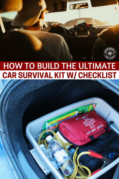 How to Build the Ultimate Car Survival Kit w./ checklist - I like the idea of creating a strong car survival kit. The author here has a some great ideas about how to create such a kit and what it could be for you and those who drive with you.