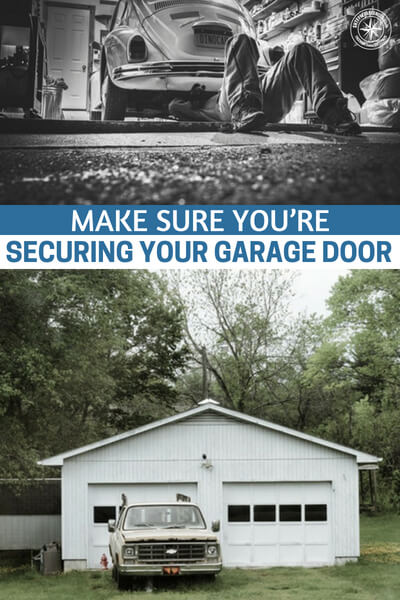 Make Sure You're Securing Your Garage Door - What thought have you given to that simple aluminum garage door that you have. The steel front and back doors will work well to keep people out but what about that garage? The author offers up some great ideas on how to fortify that door.