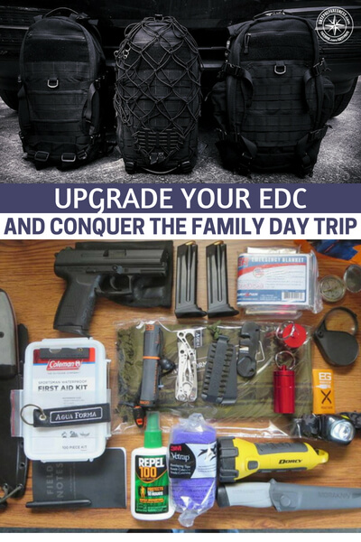 Upgrade your EDC and Conquer the Family Day Trip - The author has some great pictures of what he includes in the day pack. There are also links to the items so that you can get a better look on specs and other details. The time has come for you to consider your own EDC.