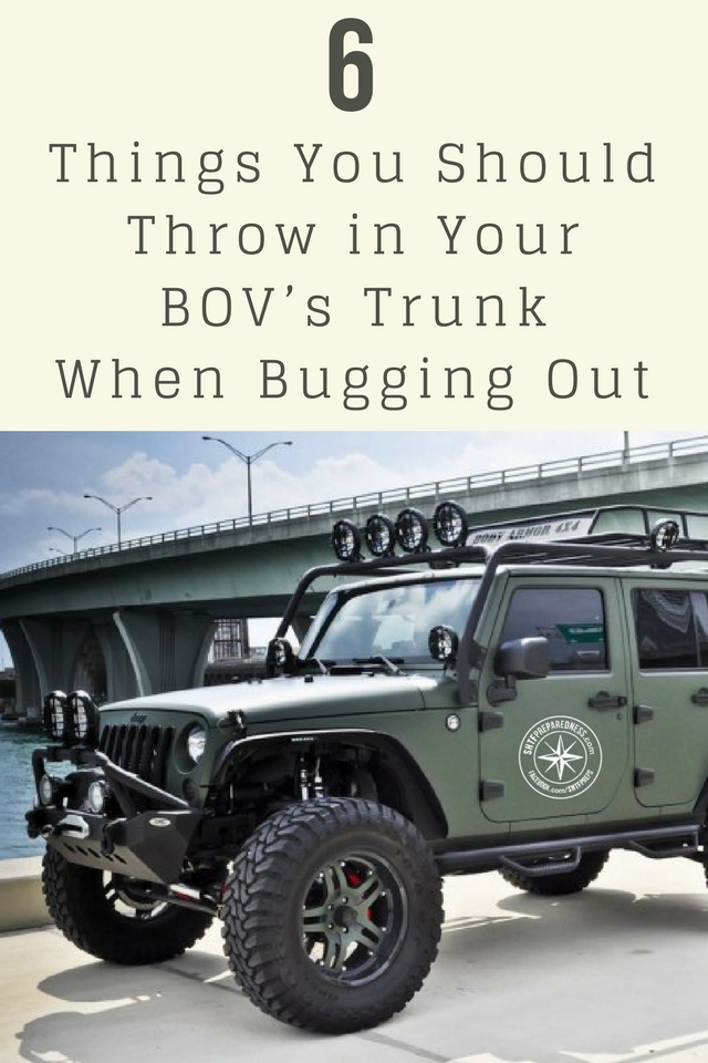 6 Things You Should Throw in Your BOV's Trunk When Bugging Out - The BOL or bugout location is discussed heavily the world of prepping and survival. We all know the importance of bugging out to escape a serious threat.