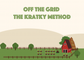 Growing Food Passively with the Kratky Method Growing -- food at home doesn't need to be a challenging and time-consuming task. Did you know that there is an interesting growing technique that is very easy to set up, off-the-grid and low-maintenance?