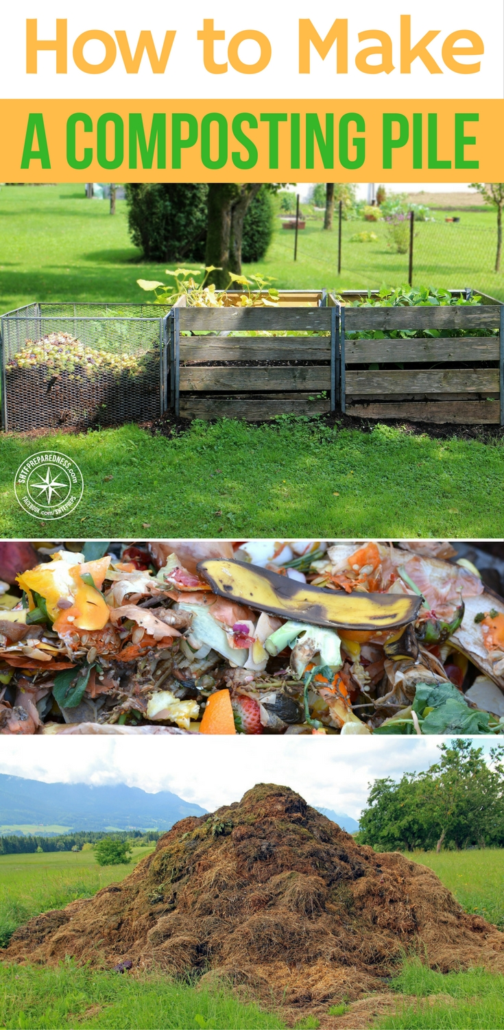 how to make a composting pile