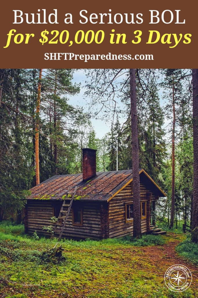 Build a Prepper Home with a Log Cabin Kit in 3 days for $20,000 - Building a log home is an easy way to build a small, well-hidden home for preppers, but, buying a log cabin kit is an even easier way.