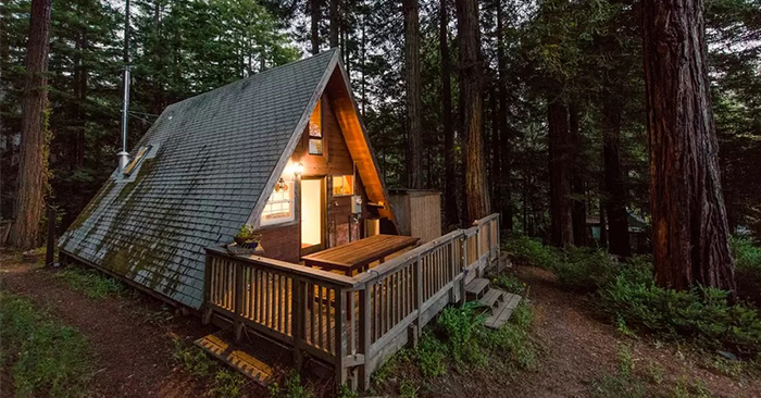 Build an a frame cabin for How to build a house in california