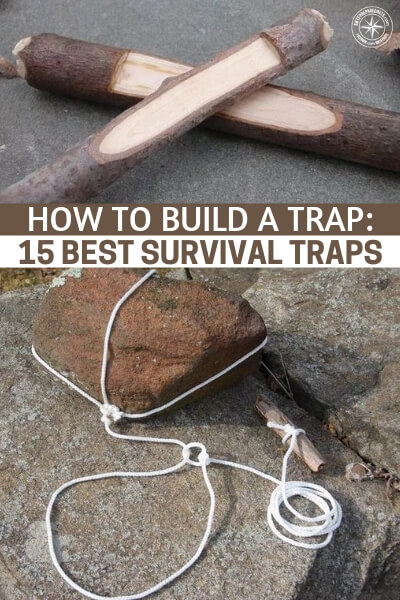 How to Build a Trap: 15 Best Survival Traps - Knowing how to make and set traps is a need to know skill for any outdoor person, in fact scrap that, it is a skill I wish EVERYONE would learn.