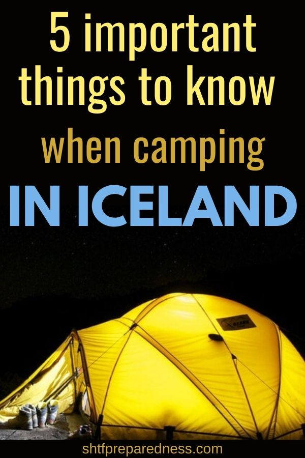 5 important things to know before camping in Iceland